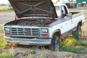 old, truck, ford
