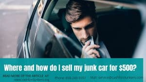 junk car sale 500$
